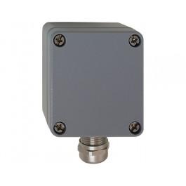 Aussentemperatur-Messumformer mit EMV-Verschraubung, aktiver Ausgang (0-10 V oder 4-20 mA)