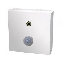 Bewegungs-/Helligkeitsfühler für den Innenraum mit Infrarot Sensor und Fotodiode, aktiver Ausgang (0-10 V), schaltender Ausgang (Wechselkontakt)