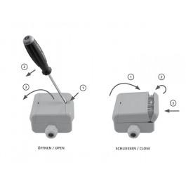 Multi-Sensor-Messgerät Aufputz für CO2, Mischgas VOC, Feuchte, Temperatur und atmosphärischen/barometrischen Luftdruck