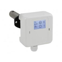 CO2 und Mischgas VOC Luftqualitätsfühler für Luftkanäle mit Messbereichsumschaltung, aktiver Ausgang (0-10 V oder 4-20 mA)