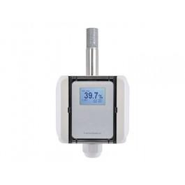 Feuchte-Messumformer Aufputz für relative/absolute Feuchte, Taupunkttemperatur, Mischungsverhältnis und Temperatur, hochgenau mit Kalibrierzertifikat, digitaler Ausgang