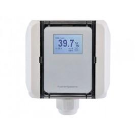 Feuchte-Messumformer Kanal für relative/absolute Feuchte, Feuchtkugel-/Taupunkttemperatur, Mischungsverhältnis und Temperatur, beheizte Sensorik, aktiver Ausgang (0-10 V oder 4-20 mA)