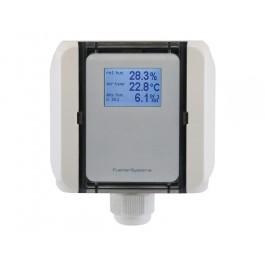 FS3135 Feuchte-Messumformer Druckluft für relative/absolute Feuchte, Taupunkttemperatur, Mischungsverhältnis und Temperatur, aktiver Ausgang (0-10 V oder 4-20 mA)