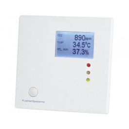 Multi-Sensor-Messgerät Raum für CO2, Feuchte und Temperatur mit Ampelanzeige zur Wandmontage