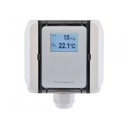 Strömungs-Messumformer Kanal für Luftstrom, Volumenstrom und Temperatur, aktiver Ausgang (0-10 V oder 4-20 mA)