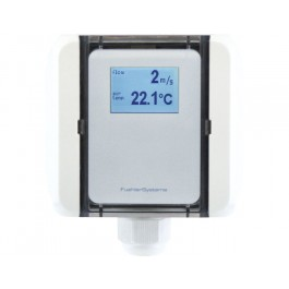 Strömungs-Messumformer Kanal für laminaren Luftstrom, Volumenstrom und Temperatur, aktiver Ausgang (0-10 V oder 4-20 mA)