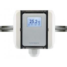 Anlegetemperatur-Messumformer mit Spannband, aktiver Ausgang (0-10 V oder 4-20 mA)