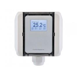 Kanaltemperatur-Messumformer mit Montageflansch, aktiver Ausgang (0-10 V oder 4-20 mA)