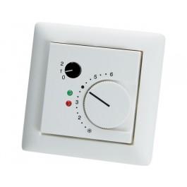 Unterputz - Raumtemperaturfühler mit Poti, Drehschalter und 2 LEDs