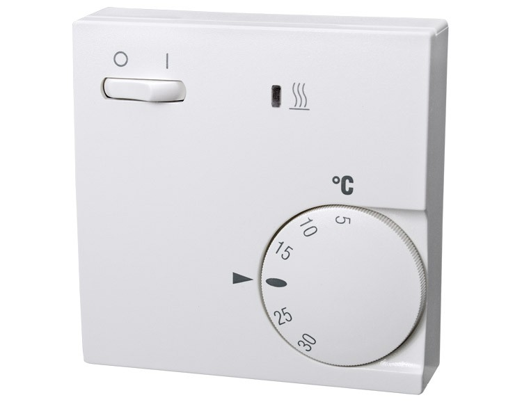 raumtemperaturregler mit ein aus schalter und anzeigelampe. Black Bedroom Furniture Sets. Home Design Ideas