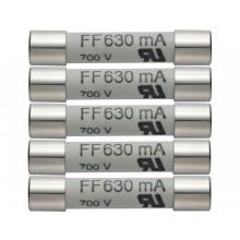 Ersatz-Sicherungen 630 mA / 600 V - 5 Stück