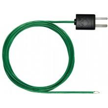 Thermopaar mit TE-Stecker, flexibel, Länge 1500 mm - mit TE Typ K Temperatursensor (PTFE)