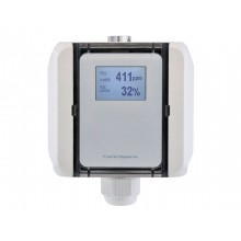 CO2 und Mischgas VOC Luftqualitätsfühler mit Messbereichsumschaltung, aktiver Ausgang (0-10 V oder 4-20 mA)