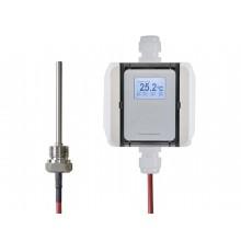 Einschraubtemperatur-Messumformer mit Silikon-Leitung, aktiver Ausgang (0-10 V oder 4-20 mA)