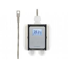 Temperatur-Messumformer mit Oberflächenfühler und Edelstahlblock, digitaler Ausgang