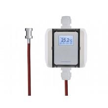 Temperatur-Messumformer mit Anlegefühler und Spannband, digitaler Ausgang