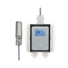 Feuchte-Messumformer mit Pendelsonde für relative/absolute Feuchte, Taupunkttemperatur, Mischungsverhältnis und Temperatur, digitaler Ausgang