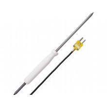 Handeinstech-Thermoelement mit PTFE-Handgriff und Silikon-Leitung