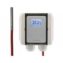 Kabeltemperatur-Messumformer mit Silikon-Leitung, aktiver Ausgang (0-10 V oder 4-20 mA)