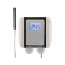 Kabeltemperatur-Messumformer mit PTFE-Leitung, aktiver Ausgang (0-10 V oder 4-20 mA)