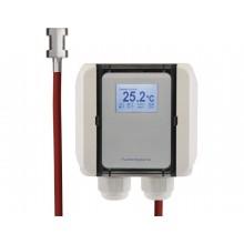 Anlegetemperatur-Messumformer mit Silikon-Leitung und Spannband, aktiver Ausgang (0-10 V oder 4-20 mA)
