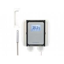 Oberflächentemperatur-Messumformer mit selbstklebender Befestigungskappe, aktiver Ausgang (0-10 V oder 4-20 mA)