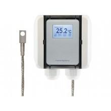 Oberflächentemperatur-Messumformer mit Edelstahlblock, aktiver Ausgang (0-10 V oder 4-20 mA)