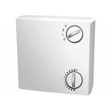 Raumtemperaturfühler mit Potentiometer und Drehschalter