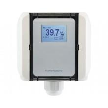 Feuchtemessumformer für Kanäle, aktiver Feuchteausgang (0-10 V oder 4-20 mA), passiver Temperaturausgang