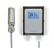 Feuchtemessumformer mit Pendelfühler, aktiver Feuchteausgang (0-10 V oder 4-20 mA), passiver Temperaturausgang