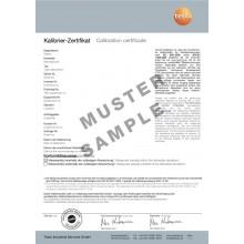 DAkkS-Kalibrier-Zertifikat Feuchte - mit 3 Messpunkten