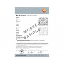 ISO-Kalibrier-Zertifikat - mit 1 Messpunkt