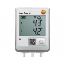 testo Saveris 2-T2 - Funk-Datenlogger mit Display und 2 Anschlüssen für NTC-Temperaturfühler