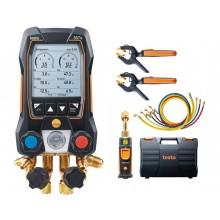 testo 557s Smart Vakuum Set mit Füllschläuchen - Smarte digitale Monteurhilfe mit kabellosen Vakuum- und Temperaturfühlern und Füllschlauchsatz (4 Stk.)