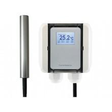 Temperatur-Messumformer mit Edelstahl-Raumpendel, aktiver Ausgang (0-10 V oder 4-20 mA)