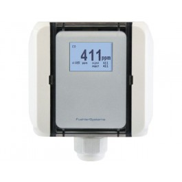 CO air quality sensor for ducts with measurement range switch