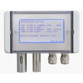 Multifunctional air quality sensor for CO, mixed gas VOC, humidity, temperature and atmospheric/barometric air pressure