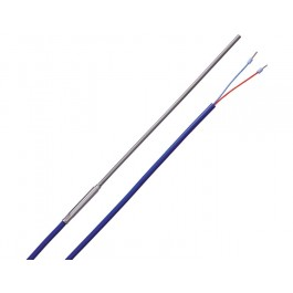 Sheathed thermocouple type L with 2 m silicone cable